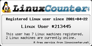 registered linux user #213445